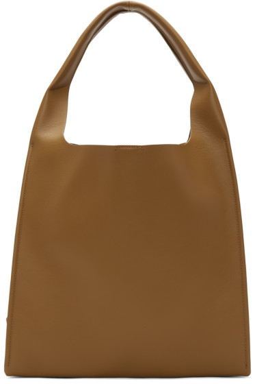 Maison Margiela - Brown Leather Tote Bag