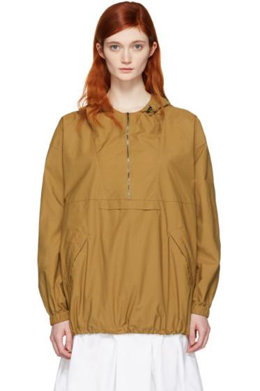 Maison Margiela - Tan Poplin Anorak Jacket