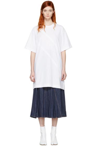 Maison Margiela - White Panelled T-Shirt