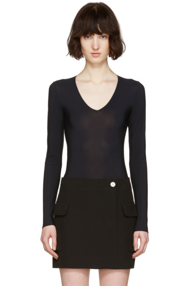 Maison Margiela - Black V-Neck Bodysuit