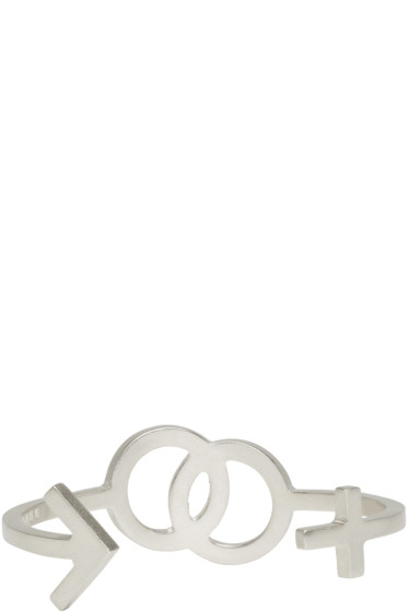 Maison Margiela - Silver Gender Sign Cuff