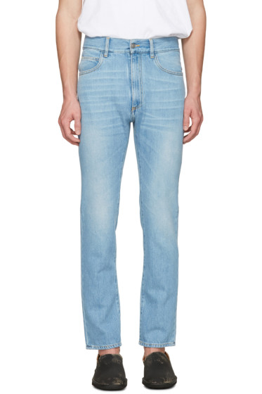 Maison Margiela - Indigo High-Waisted Washed Jeans