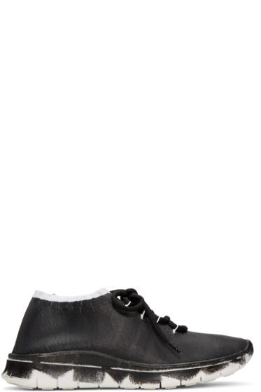 Maison Margiela - Black Painted Knit Sneakers