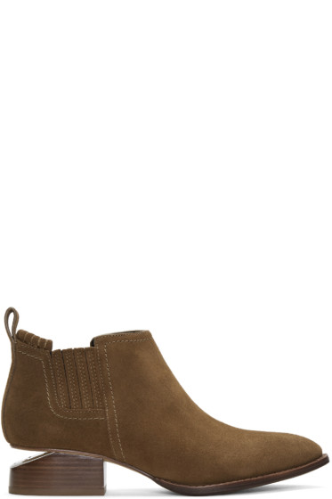 Alexander Wang - Brown Suede Kori Boots