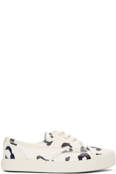 Alexander Wang - White & Black Leopard Perry Sneakers