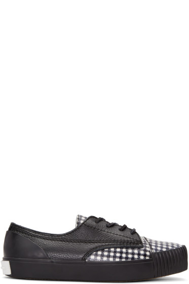 Alexander Wang - Black & White Houndstooth Perry Sneakers