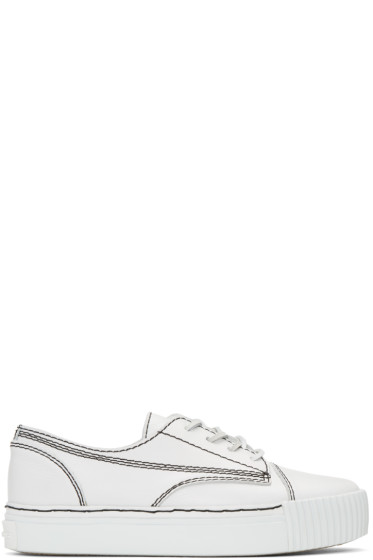 Alexander Wang - White Leather Perry Sneakers
