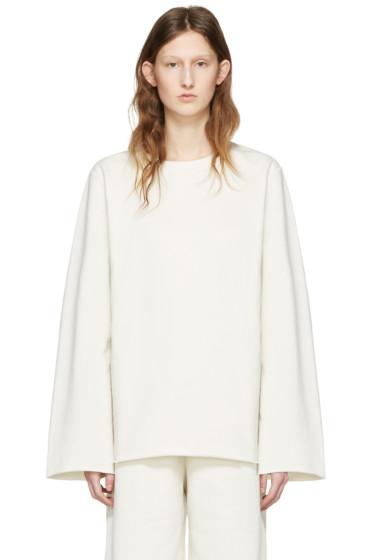 MM6 Maison Margiela - Off-White Basic Pullover