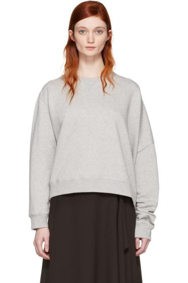 MM6 Maison Margiela - Grey Basic Asymmetic Pullover