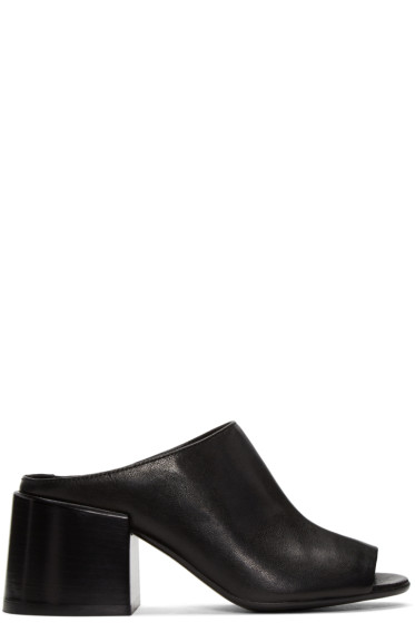 MM6 Maison Margiela - Black Leather Mules
