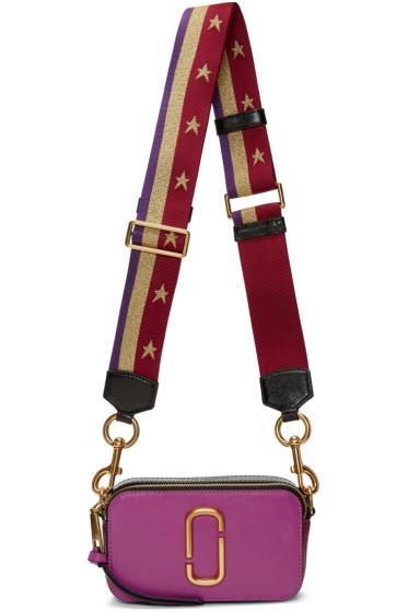 Marc Jacobs - Purple Stripes & Stars Snapshot Bag