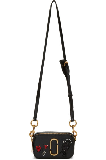 Marc Jacobs - Black Small Embroidered Snapshot Camera Bag