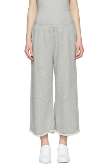 T by Alexander Wang - Grey Cropped Wide Lounge Pants
