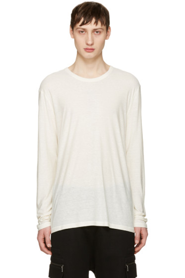 T by Alexander Wang - Ivory Long Sleeve T-Shirt