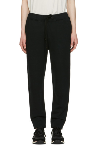 Robert Geller - Black Sweat Lounge Pants