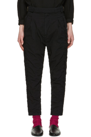Robert Geller - Black Undone Blixa Trousers