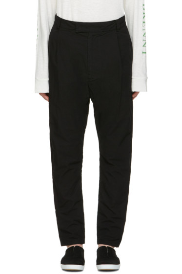 Robert Geller - Black Cotton Trousers