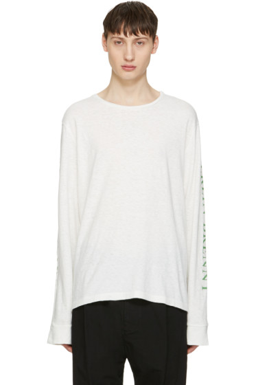 Robert Geller - White Print T-Shirt