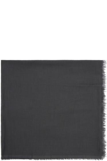 Rick Owens - Grey Cashmere & Cotton Scarf