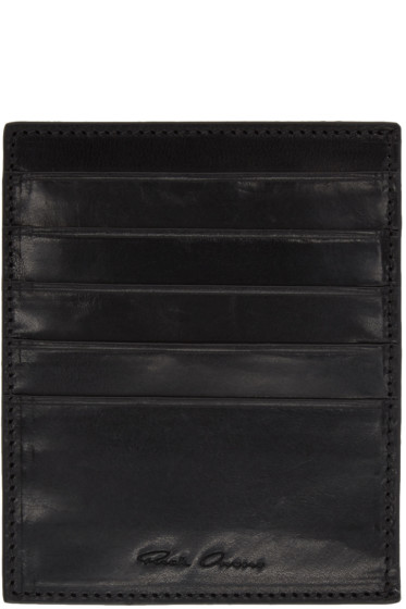 Rick Owens - Black Multiple Card Holder