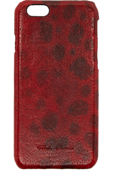 Rick Owens - Red Leather iPhone 6 Case