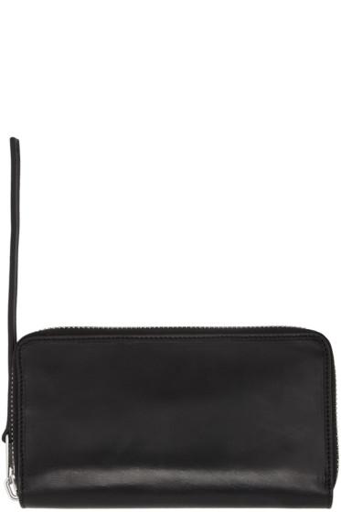 Rick Owens - Black Medium Zippered Wallet