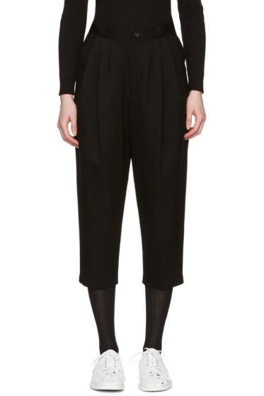 Comme des Garçons - Black Pleated Wool Trousers