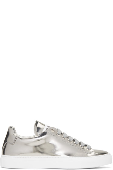Jil Sander - Silver Leather Sneakers