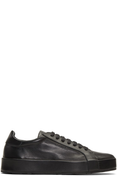 Jil Sander - Black Leather Sneakers