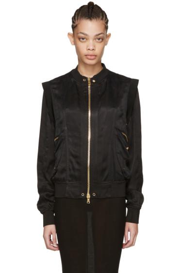 Balmain - Black Zip Bomber Jacket