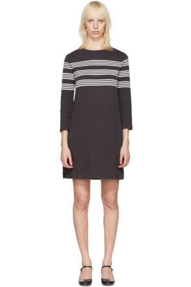 A.P.C. - Black Striped Esther Dress