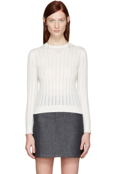 A.P.C. - White Annabelle Pullover