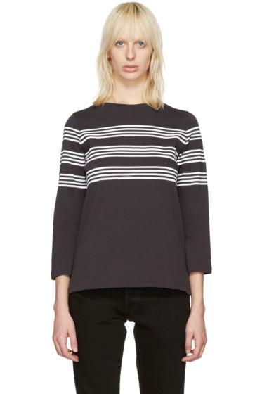 A.P.C. - Black Striped Re T-Shirt