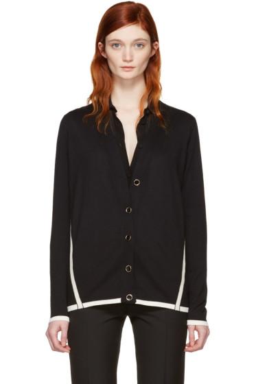 Lanvin - Black Wool Contrast Cardigan