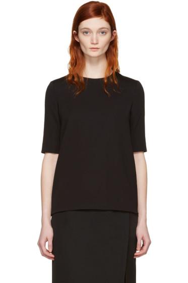 Lanvin - Black Short Sleeve Blouse