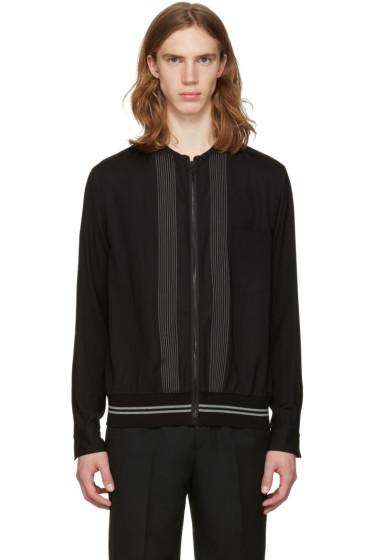 Lanvin - Black Zip Front Shirt