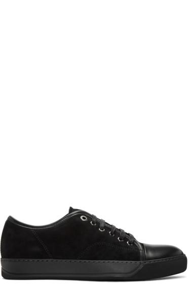 Lanvin - Black Suede Tennis Sneakers