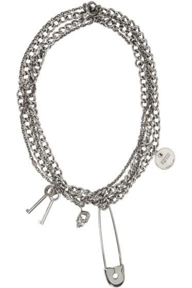 Alexander McQueen - Silver Pin & Skull Necklace