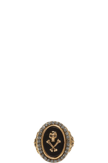Alexander McQueen - Black Mini Skull Ring