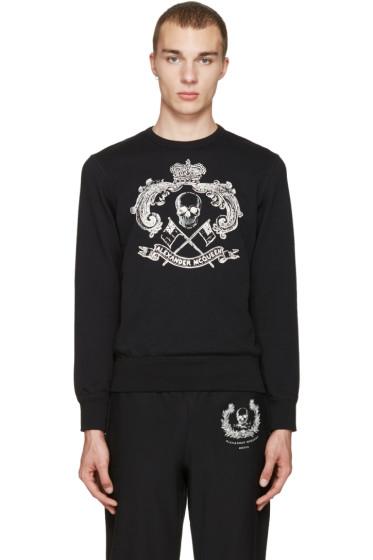 Alexander McQueen - Black Skull & Crown Pullover