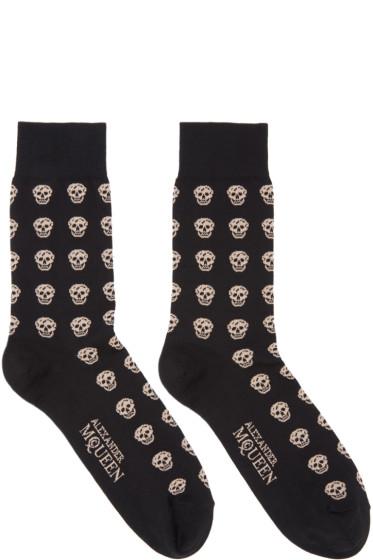 Alexander McQueen - Black Skull Socks