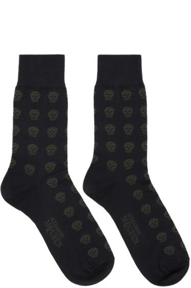 Alexander McQueen - Navy Skull Socks