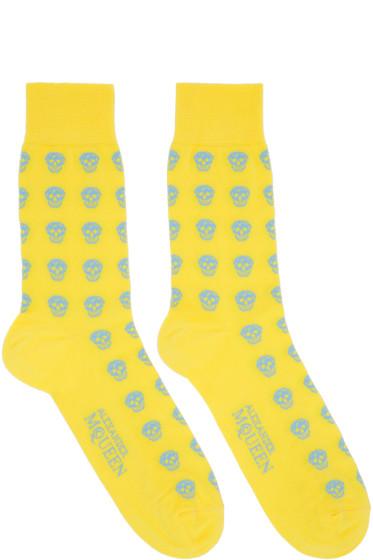 Alexander McQueen - Yellow Skull Socks