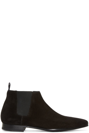 Paul Smith - Black Suede Marlowe Chelsea Boots