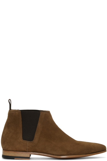 Paul Smith - Brown Suede Marlowe Chelsea Boots