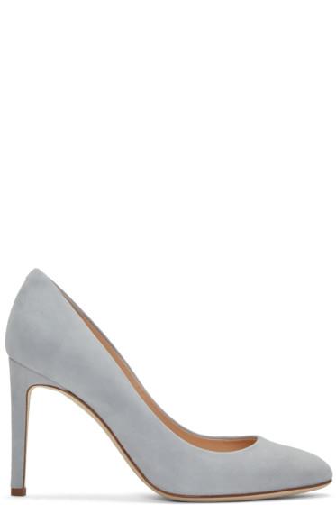 Giuseppe Zanotti - Grey Suede Bimba Heels