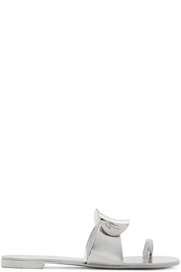 Giuseppe Zanotti - Silver Mirror Nuvorock Sandals