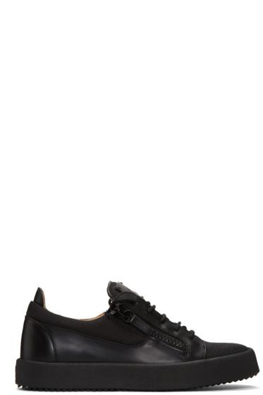 Giuseppe Zanotti - Black Mesh Low-Top Sneakers