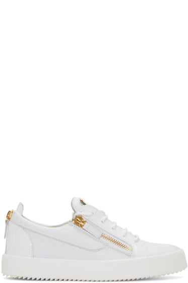 Giuseppe Zanotti - White Leather London Sneakers