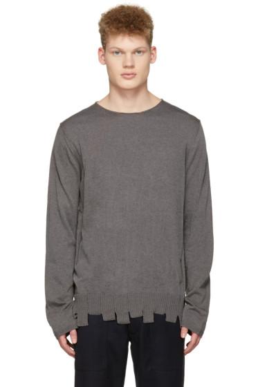 Comme des Garçons Shirt - Grey Asymmetric Hem Sweater
